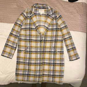 Cynthia Rowley yellow pea coat / long blazer